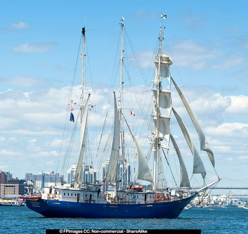 Yacht Concordia under full sail, free image