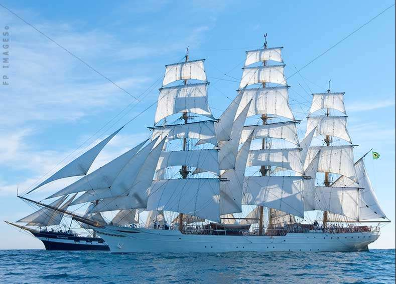 Barque Cisne Branco, ships pictures, in the transatlantic race sailing