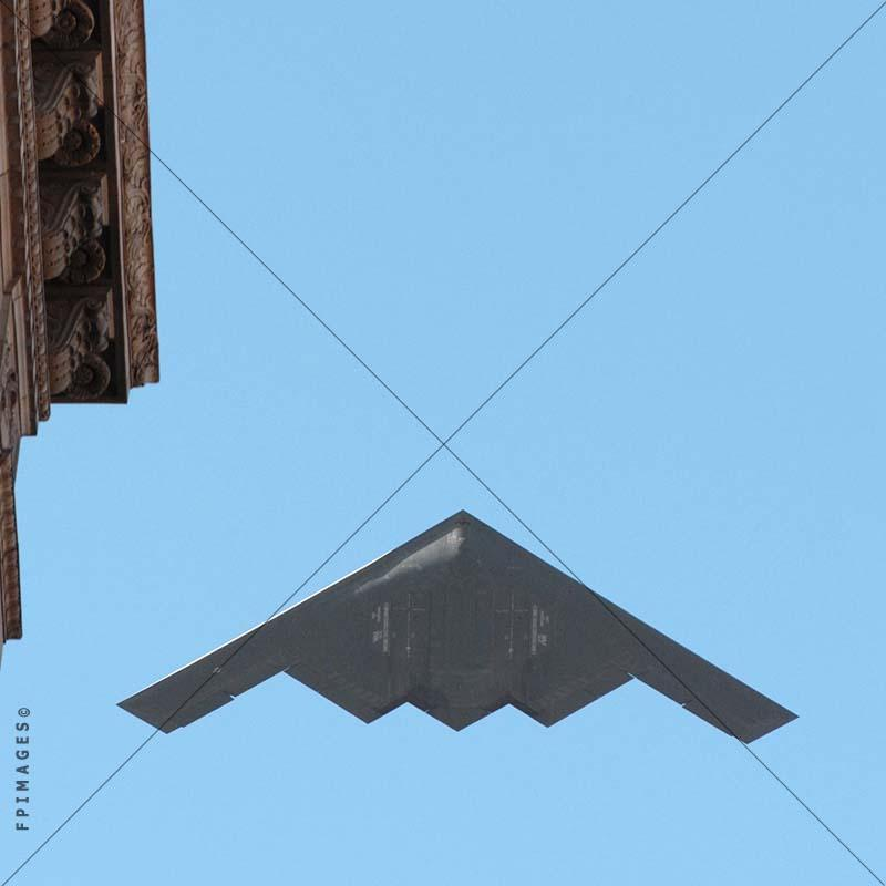 Fly-over, fly by B-2 Spirit Stealth Bomber at Rose Parade