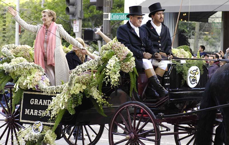 Photograph of Cloris Leachman, actress Grand Marshal of Rose Parade