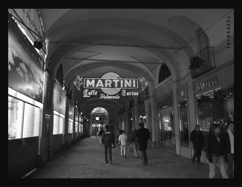 Street Photo of covered pedestrian arcade in Turin center