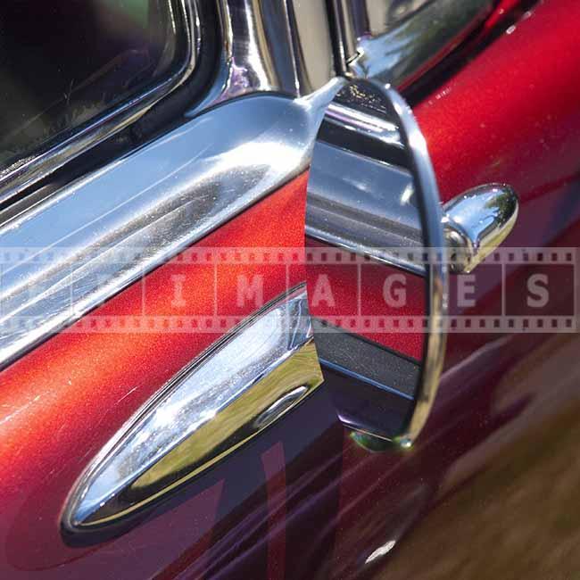 classic car design detail Chevy Bel Air 50-s side mirror