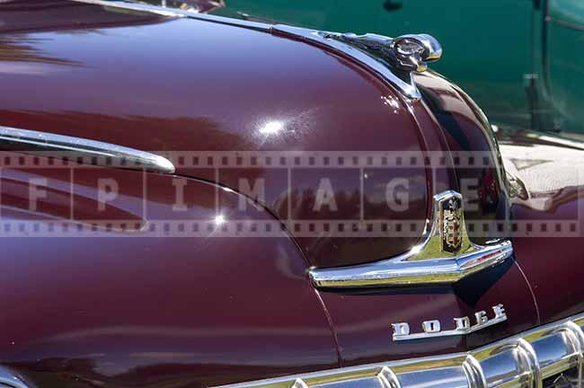 1950s Dodge Deluxe classic american car front badge