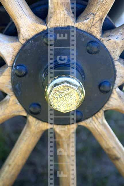 Ford model T made in Canada wooden wheel with rivets and spokes