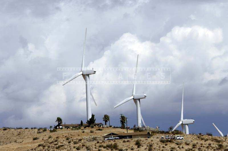 Houses near Wind Generators at San Gorgonio California