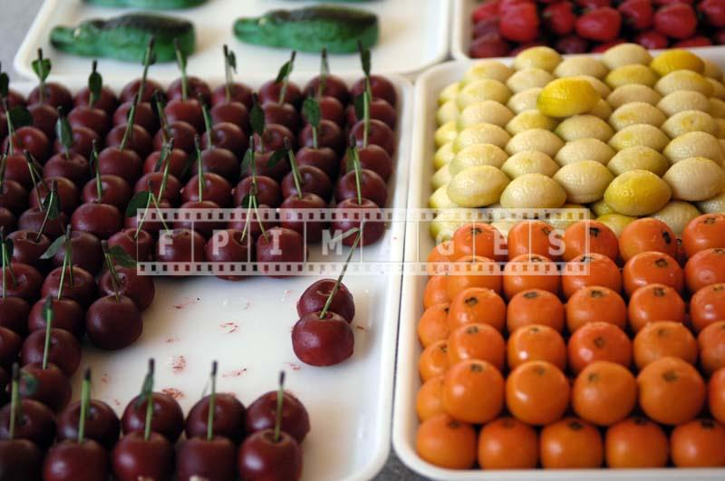 imitation cherries made from marzipan
