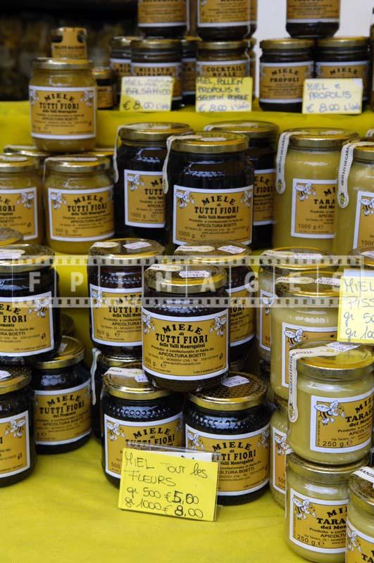 Italian honey for sale at French Market