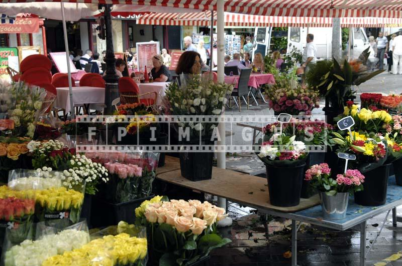 Cours Saleya is famous for its flower vendors