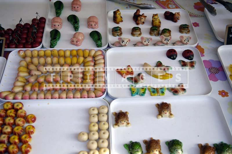Sweet candy made with almond meal - marzipan