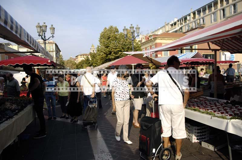 People shopping at Cours Saleya Market