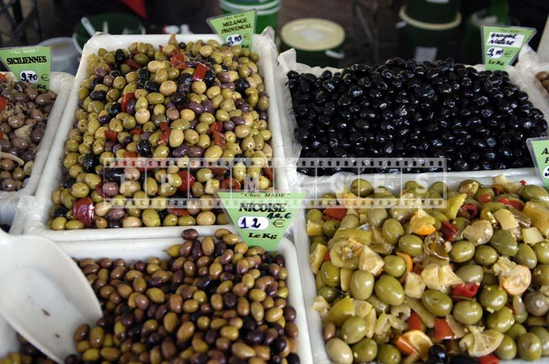 Olives pickled Nicoise, Provencal and other