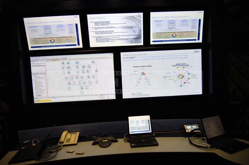 modern electronic dashboard room