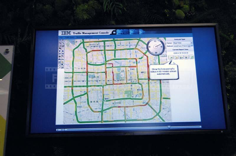 electronic map of city traffic