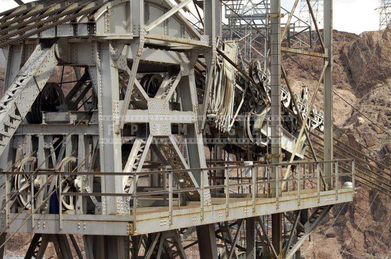 Heavy Equipment for Hydroelectric Power at Hoover Dam, engineering picture