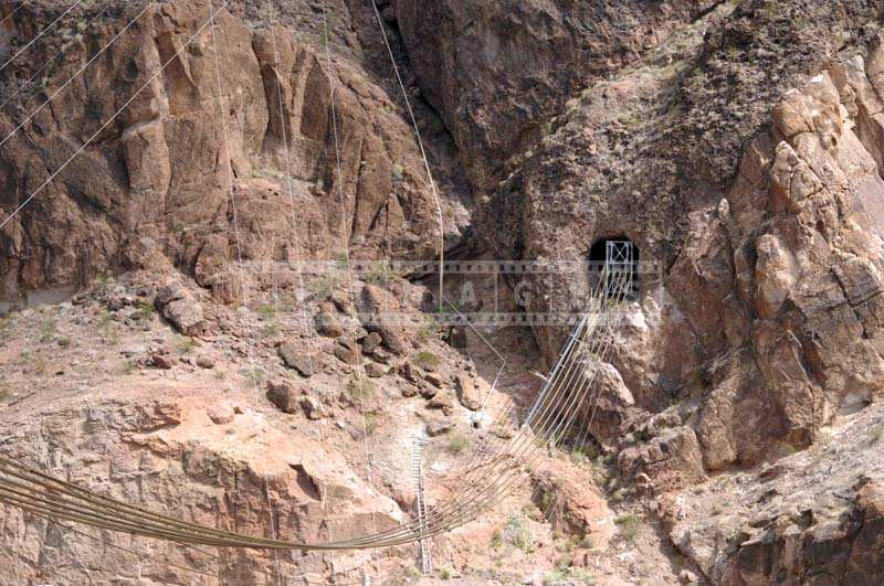 Black Canyon and engineering cables, industrial picture