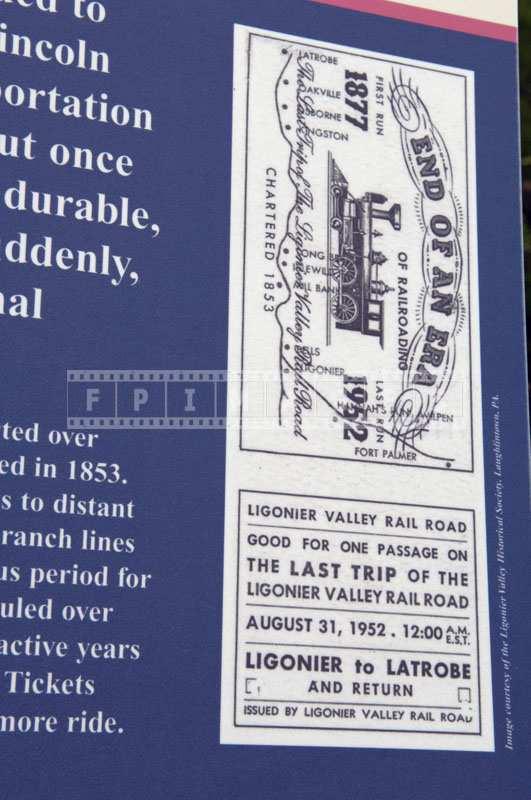 Historic train ticket picture