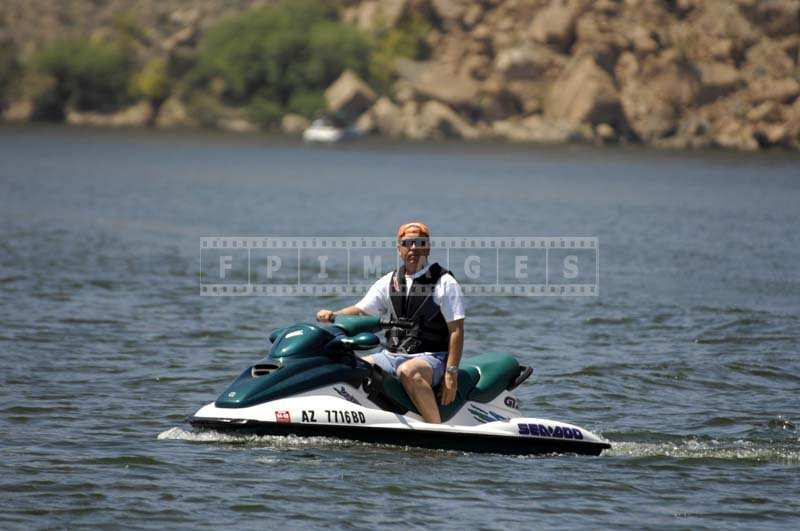 Jet-Skier in the Canyon Lake