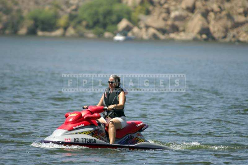 Jet ski on a Canyon Lake Trip