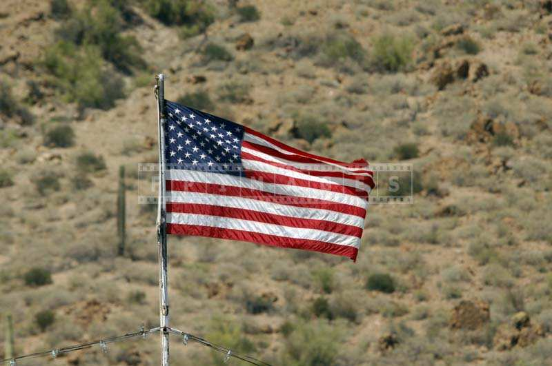 American Flag at Canyon Lake, USA travel images