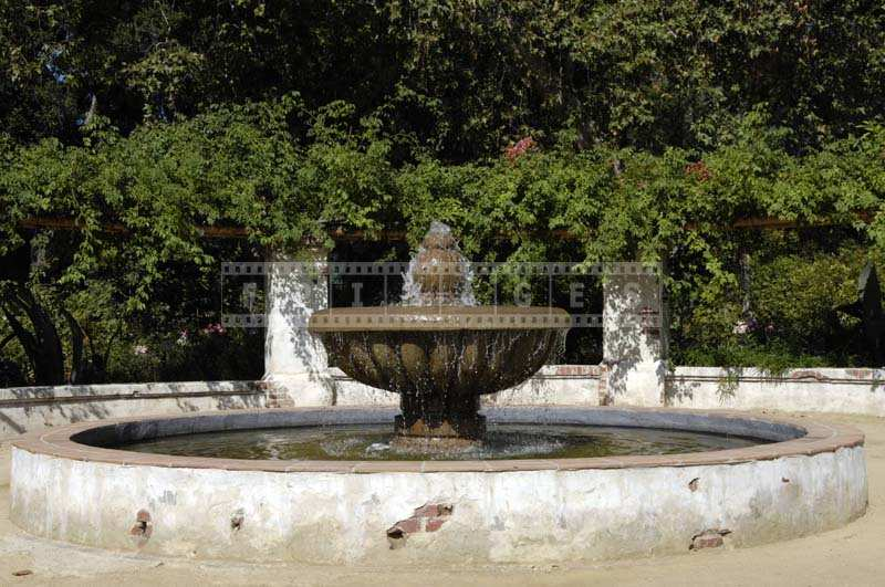 A Fountain Spurting Water, Descanso Gardens California