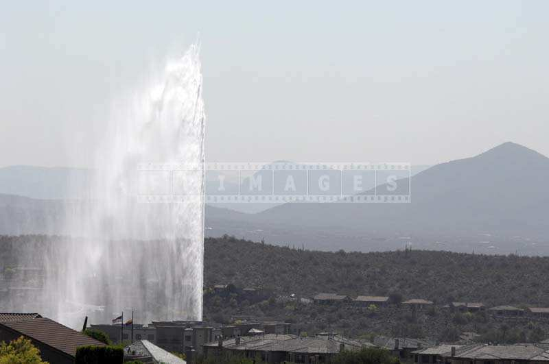 Water Spray Towering over the Landscape