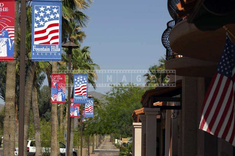 A Charming Street in Fountain Hills