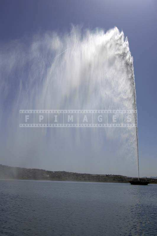 The Mist from the Water Jet at the Fountain