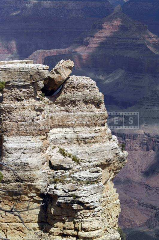 Rock stuck on top of the cliff