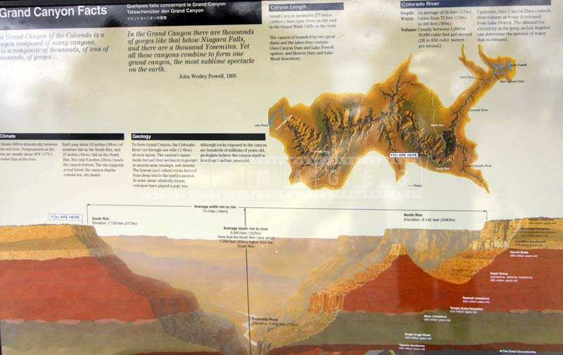 Grand Canyon Map and Info
