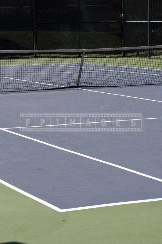 The Bright Blue Ground of the Tennis Court