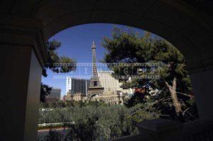 Bellagio Arches frame the cityscape