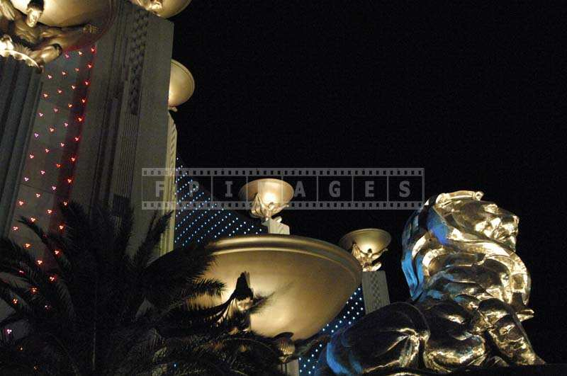 Brightly Lit Golden MGM GrandLion