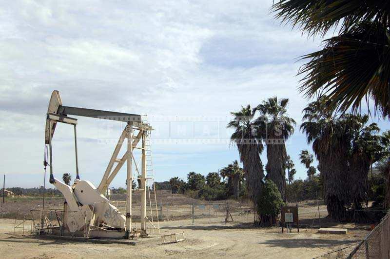 Petroleum engineering pump jack in the field