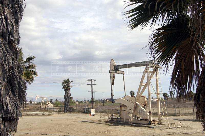 Industrial landcsape oil production