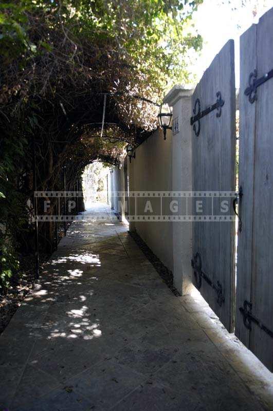 The Romantic Walkways of the Inn Sheltered from the desert sun