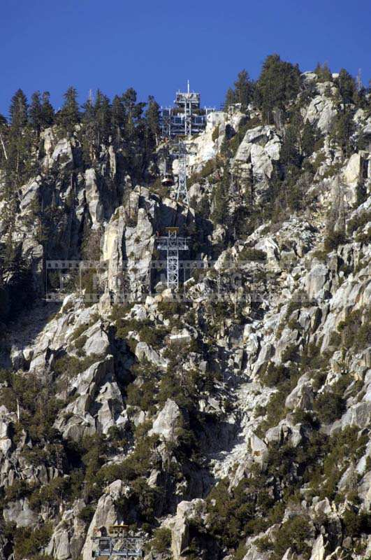 Aerial Tramway Towers San Jacinto Mountains