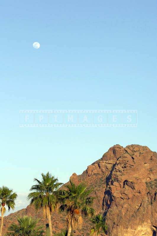 The Magnificent Camelback Mountain and full moon