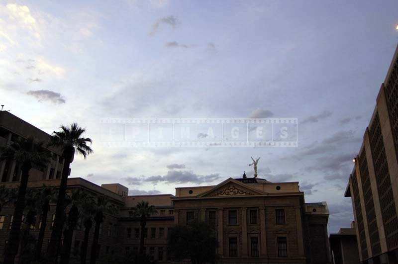 Arizona State Capitol in Phoenix at sunset