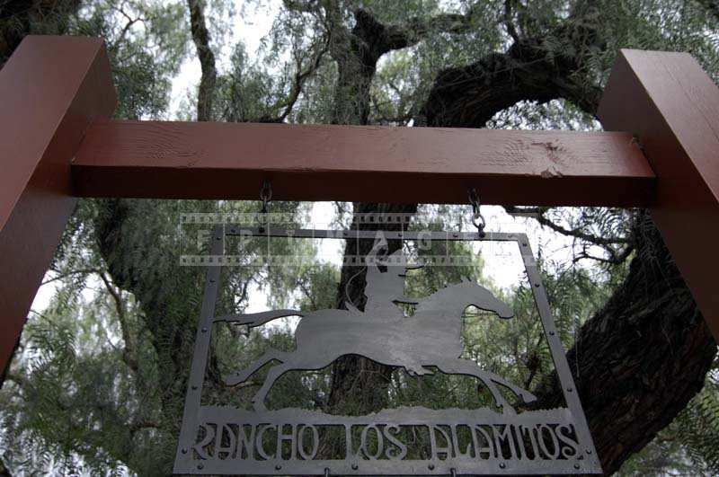 The Rancho Los Alamitos Entrance Sign