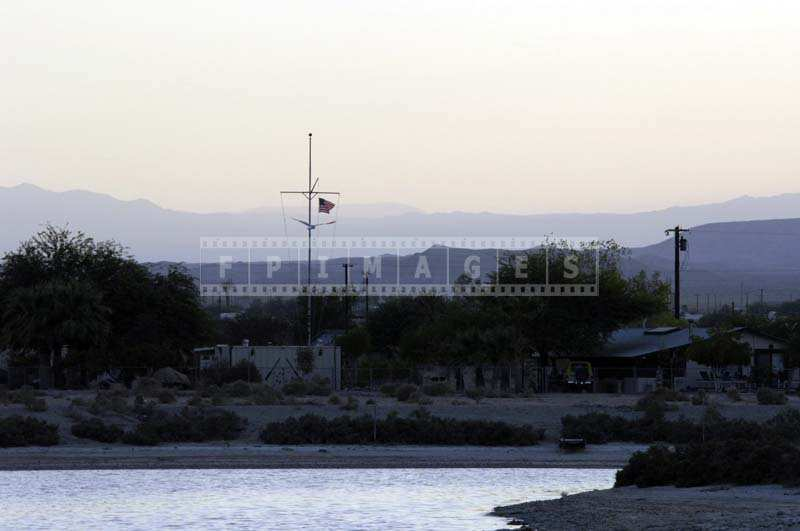 Distant View of the US Flag, Salton City