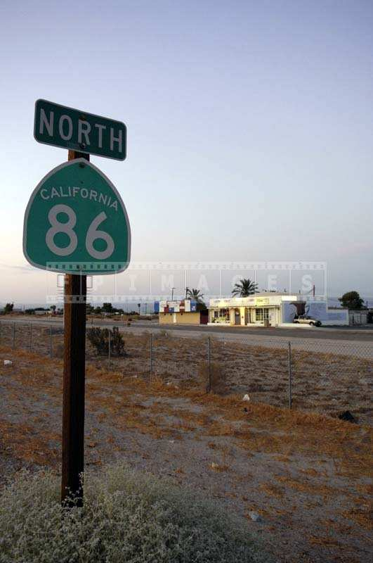 California 86 Sign near Salton City