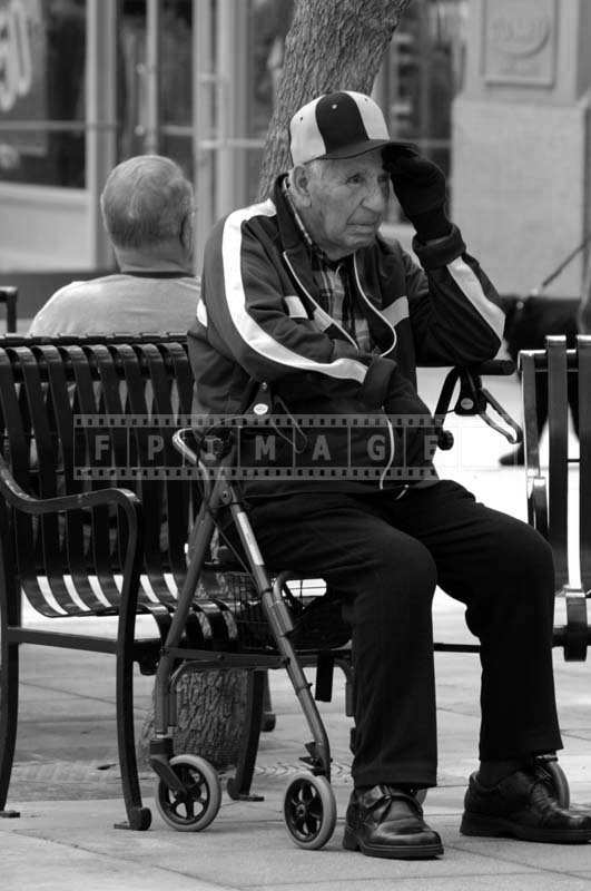 A Senior Citizen on a Bench