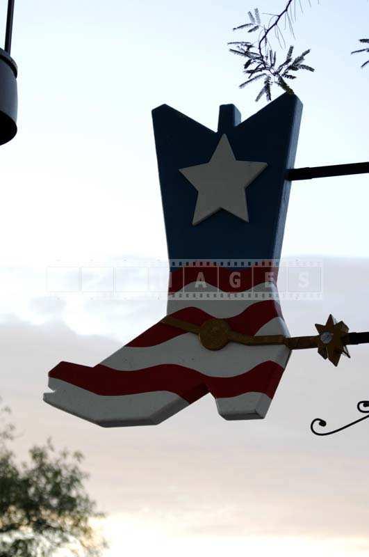 Cowboy Boot Sign