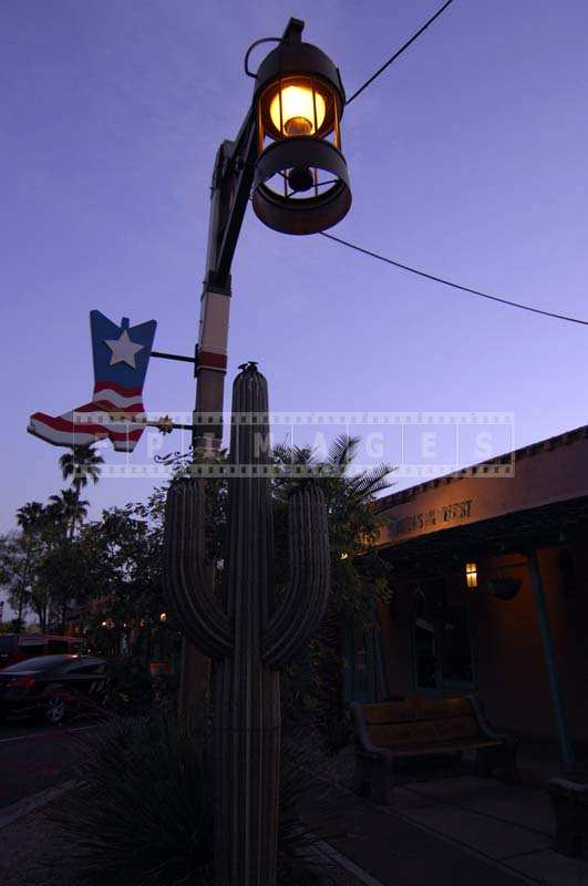 Old Town Scottsdale evening street