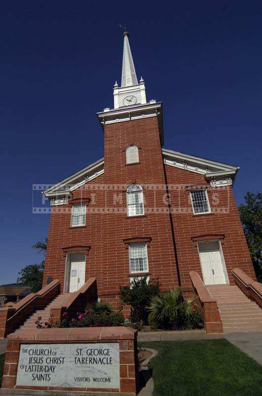 Beautiful St George Tabernacle, lds church picture