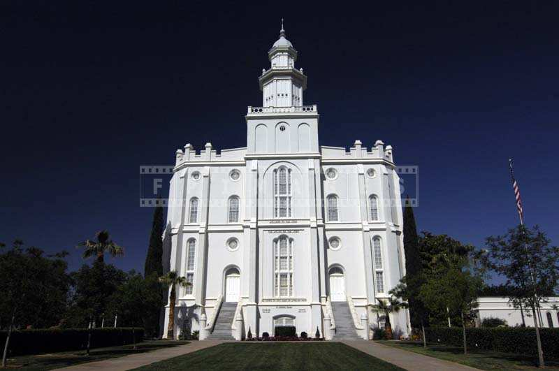 St George Utah Mormon Temple, church picture