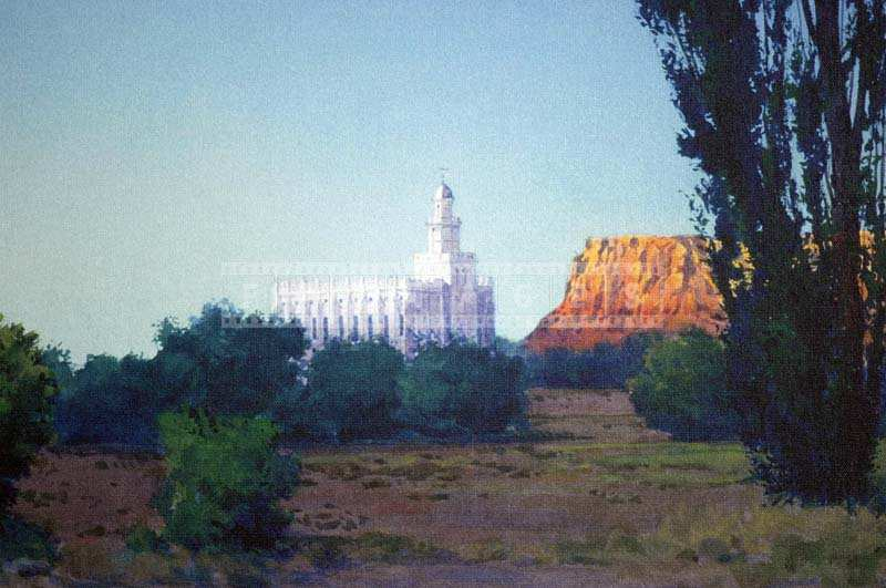 Picture of the Painting of the Temple, Utah