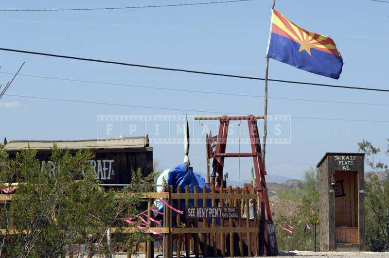 Arizona Flag at Jackass Flats