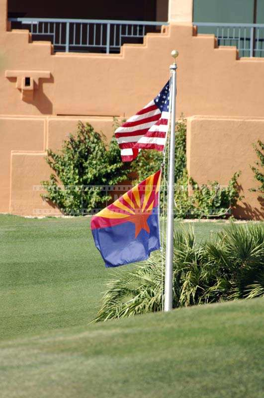 USA Flag and Arizona Flag