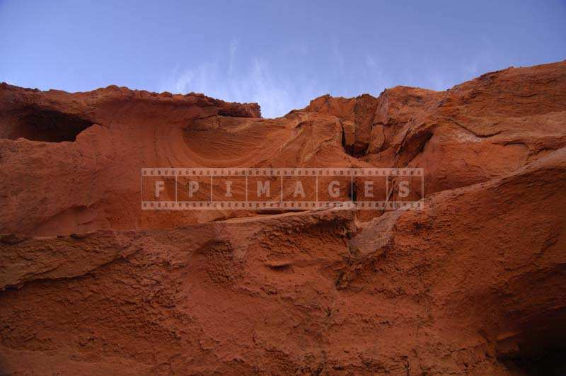 Brightly Colored Sandstones against blue sky